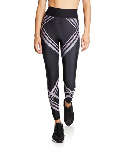 Ultra High Contrail Contrast Stripe Leggings