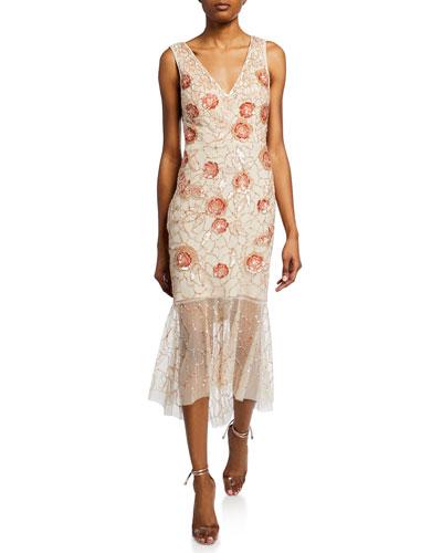 750c26869846 Sleeveless Floral Dress | Neiman Marcus
