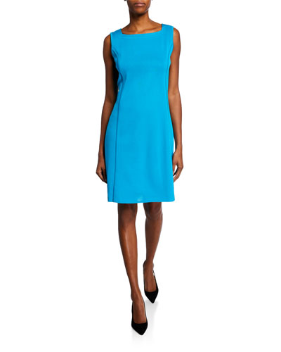 Square-Neck Sleeveless Sheath Dress