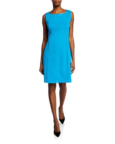 Misook Square-Neck Sleeveless Sheath Dress
