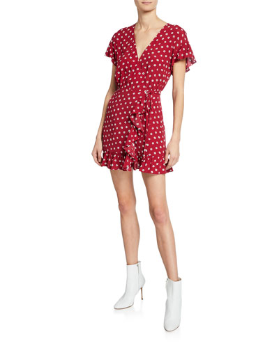 041ce4c1c97 Quick Look. Rails · Koreen Floral-Print Ruffled Mini Wrap Dress. Available  in Red