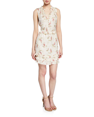 4c657e62f56 Quick Look. Rebecca Taylor · Ivie Sleeveless Ruffle Button-Front Dress