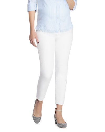 Florence Crop Mid-Rise Maternity Jeans