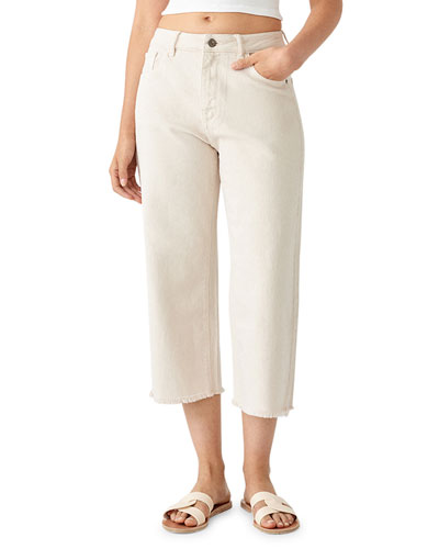Hepburn Crop High-Rise Wide-Leg Jeans