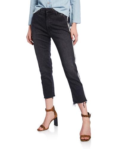 The Shaker Prep Crop Jeans w/ Stripes