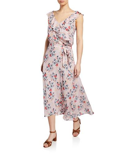 3d4be2e7e8 Quick Look. Velvet · Isadora Floral Wrap Midi Skirt