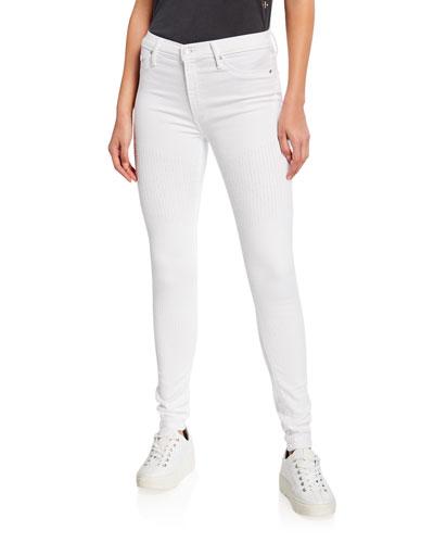 Gisele High-Rise Super Skinny Jeans w/ Moto Detail
