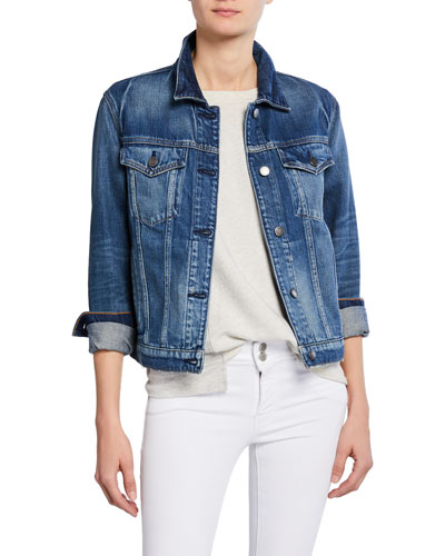 Classic Button-Front Denim Trucker Jacket