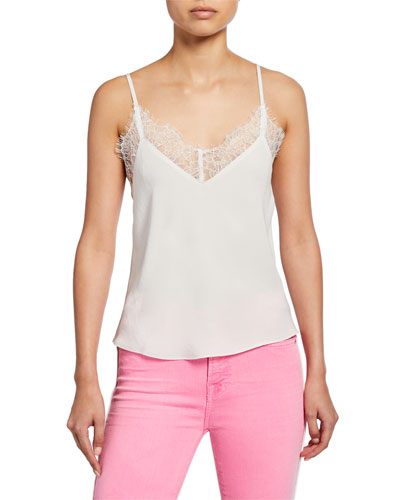 b2a66e9fd2b38f Quick Look. 7 For All Mankind · V-Neck Camisole with Scallop ...