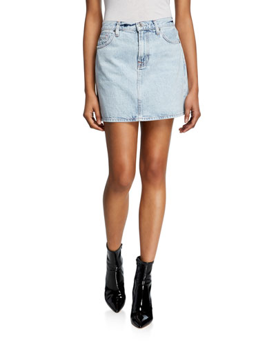 be343caf6e Quick Look. 7 For All Mankind · Light Wash Denim Mini Skirt