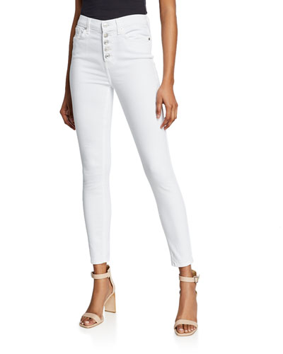 eadc773426efe Quick Look. 7 For All Mankind · High-Waist Ankle Skinny Jeans ...