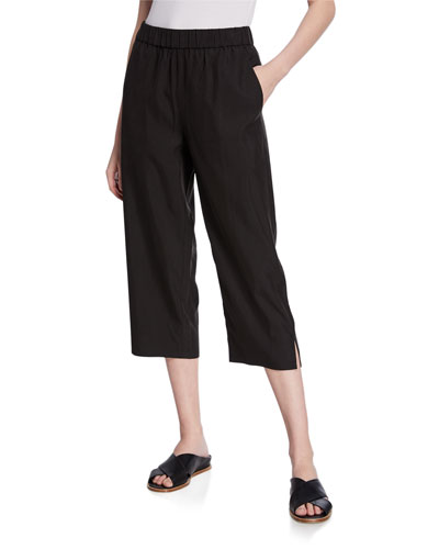Plus Size Sandwash Slouchy Crop Pants