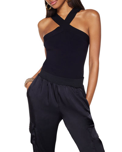 Arianna High-Neck Sleeveless Top