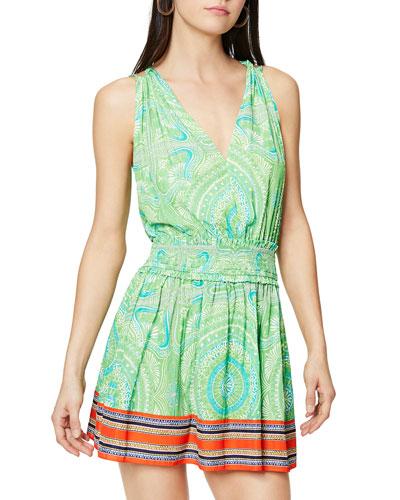 Dorothy Mixed Print Mini Dress