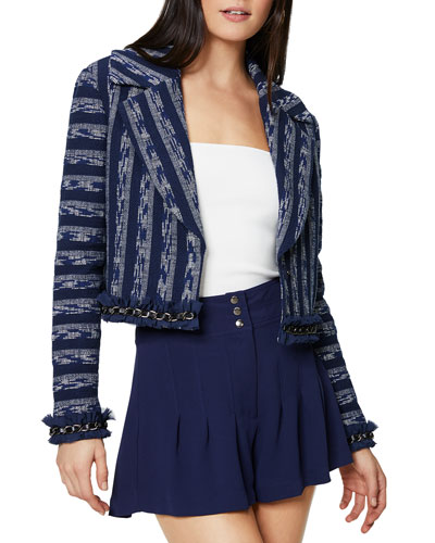 Cole Cropped Tweed Jacket