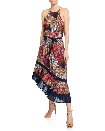 Calliope Printed Halter Dress
