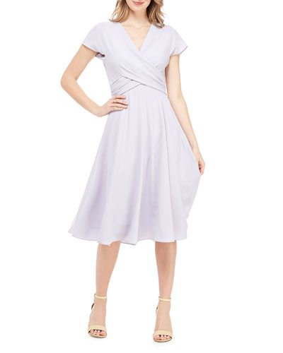 5acc23ded68 Short Sleeve A Line Dress