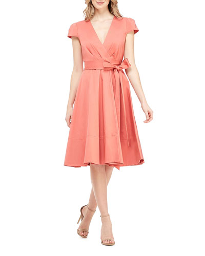 88406a0838 Cotton Wrap Dress
