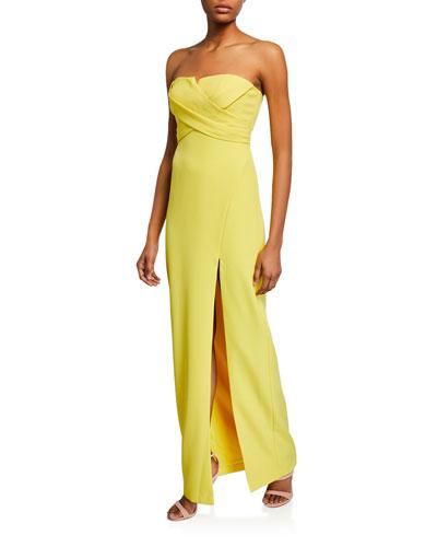5c30ec7ecf01 Yellow Evening Dress