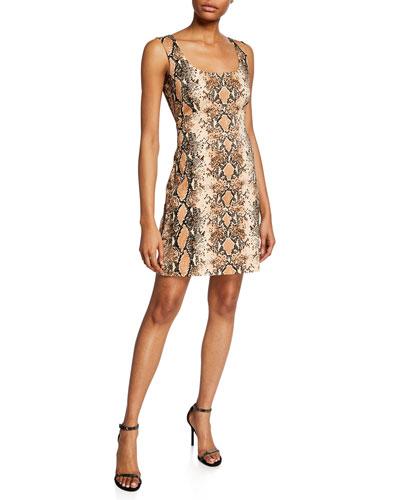 de52aa19d0321 Quick Look. Diane von Furstenberg · Tessa Snake-Print Sleeveless Dress