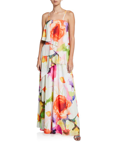 43b12f5d445b Quick Look. Josie Natori · Eden Floral-Print Convertible Ruffle Maxi Dress