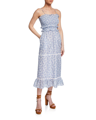 93167a3fd644 Cotton Smocked Dress   Neiman Marcus