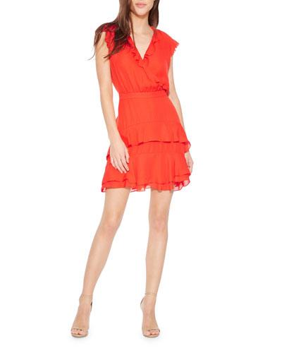 764c99722f43 Quick Look. Parker · Tangia V-Neck Sleeveless Ruffle Dress