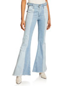 AG Adriano Goldschmied Iva Paneled Wide-Leg Jeans