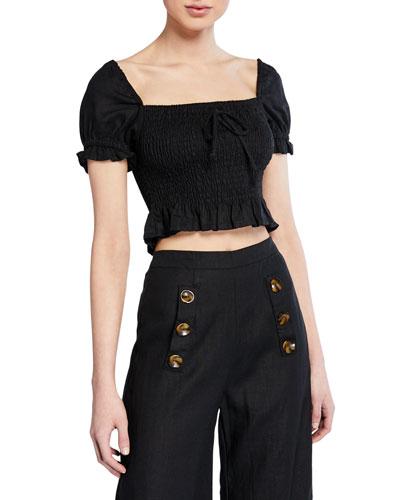 d53af16ebd509 Black Short Sleeve Crop Top