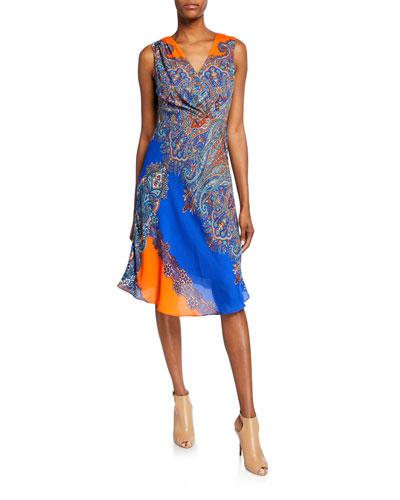 Agatha Paisley Sleeveless Dress