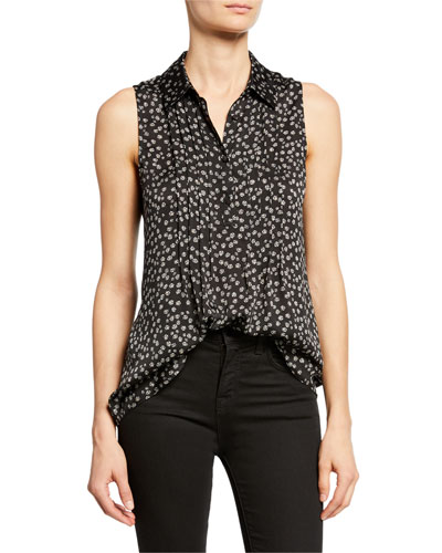 Carvelle Floral Pleated Blouse