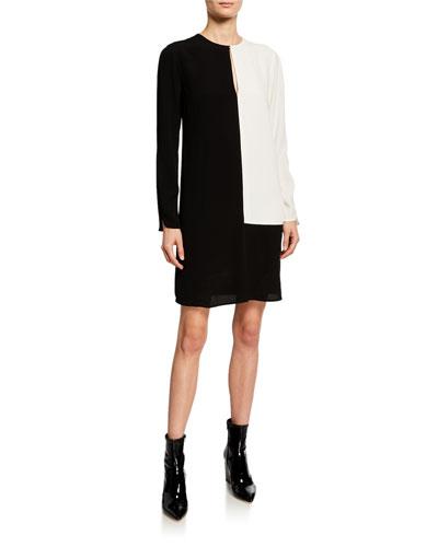 e9fc7f2320da Jewel Neckline Viscose Shift Dress | Neiman Marcus