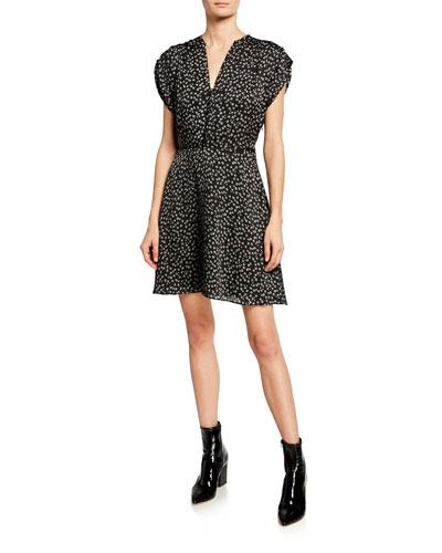 Danette Floral A-Line Dress