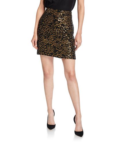Cici Sequined Mini Skirt