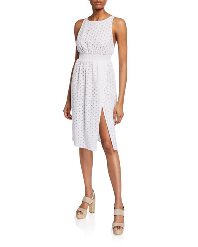 Amara Sleeveless Eyelet Cotton Dress