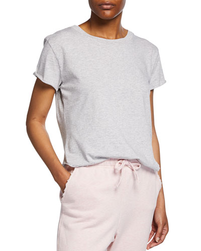 Vintage Short-Sleeve Raw-Edge T-Shirt