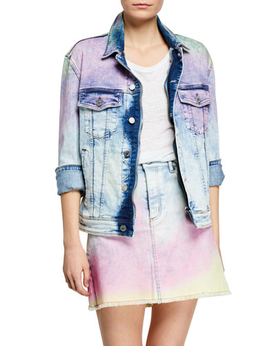 Kase Tie-Dye Denim Jacket