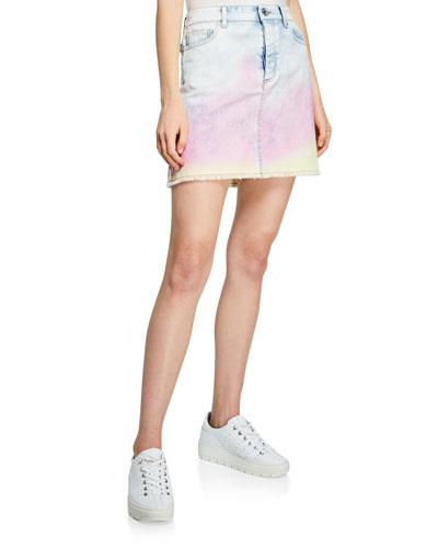 Juicy Tie-Dye Denim Skirt
