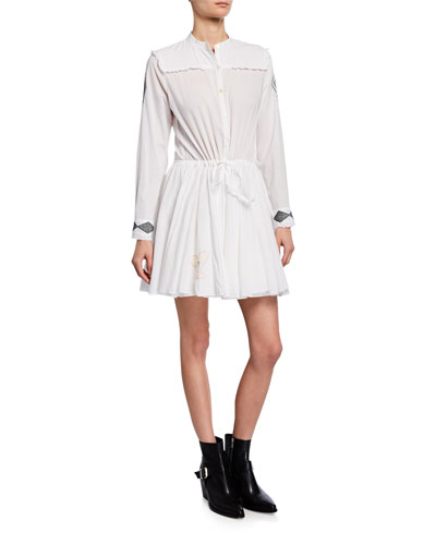 Ranil Embroidered Cotton Shirtdress