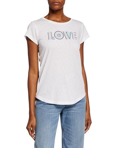 Love Graphic Short-Sleeve Slim Tee
