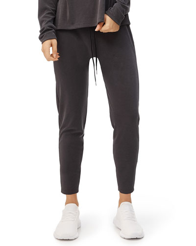 Luxe Ribbed Drawstring Pull-On Pants