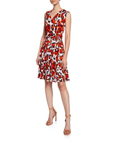f619c205b115 Quick Look. Diane von Furstenberg · Jasmine Printed Silk Sleeveless Wrap  Dress