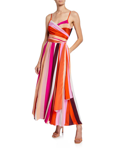 8513ab41a5e7f Quick Look. Diane von Furstenberg · Azalea Striped Silk Maxi Dress