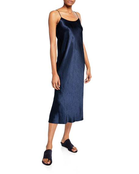 Vince Satin Midi Slip Dress