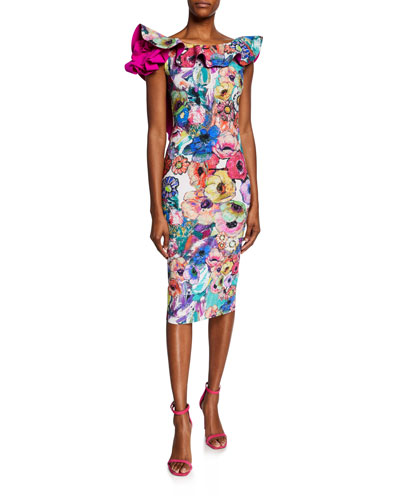 cc77cd9e9256d Floral Print Pullover Dress | Neiman Marcus