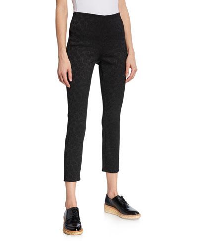 Simone Jacquard Skinny-Leg Pants