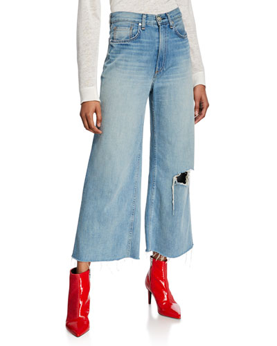 Ruth Super High-Rise Ankle Wide-Leg Jeans