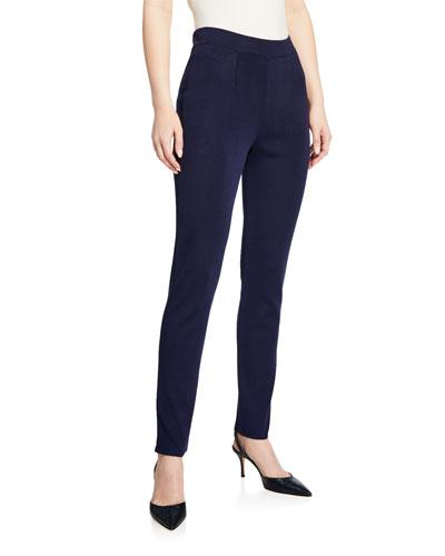 Slim-Leg Knit Pants