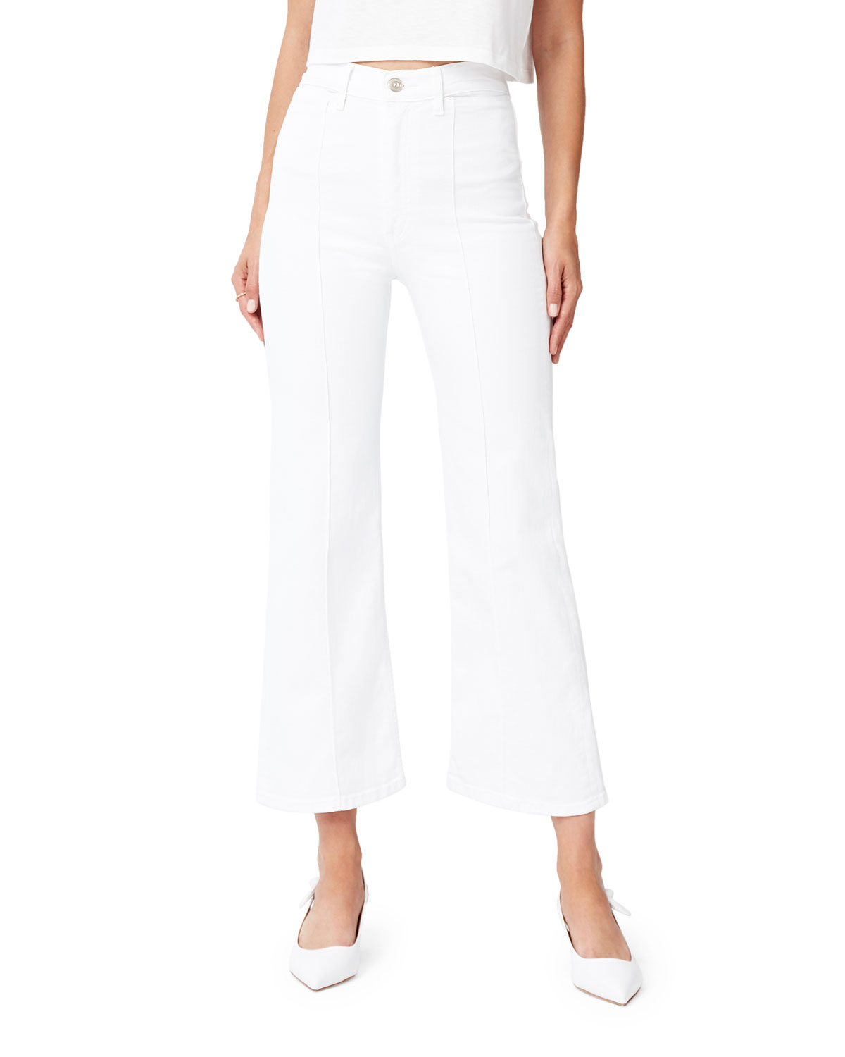 3x1 Jeans NICOLETTE HIGH-RISE CROPPED STRAIGHT JEANS