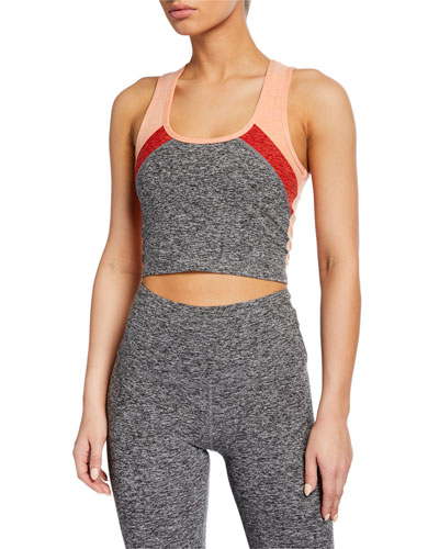 Color In Colorblock Cropped Tank